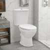 vidaXL Fehér kerámia álló WC tartállyal és lágyan csukódó fedéllel