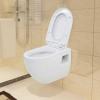 vidaXL fehér kerámia fali WC csésze