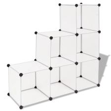 vidaXL fehér kocka alakú tároló 6 tárolórekesszel bútor
