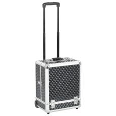 vidaXL fekete alumínium sminkbőrönd 35 x 29 x 45 cm
