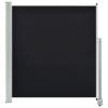 vidaXL fekete behúzható oldalsó terasz napellenző 140 x 300 cm