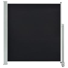 vidaXL fekete behúzható oldalsó terasz napellenző 140 x 300 cm fogó