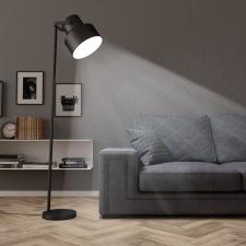 vidaXL fekete fém állólámpa E27 világítás
