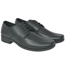 vidaXL férfi business cipő fűzős fekete méret 44 PU bőr