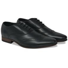 vidaXL Férfi fűzős alkalmi félcipő fekete 44-es méret PU bőr