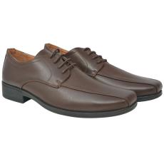 vidaXL Férfi fűzős business cipő barna 45-ös méret PU bőr
