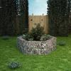 vidaXL Hatszögletű gabion virágtartó 160 x 140 x 50 cm