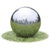 vidaXL Kerti gömb rozsdamentes szökőkút LED-el 20 cm