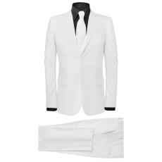 vidaXL két darabos férfi öltöny nyakkendővel méret 48 fehér