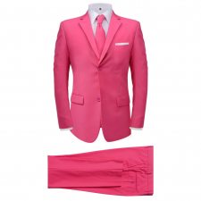 vidaXL két darabos férfi öltöny nyakkendővel méret 50 rózsaszín öltöny