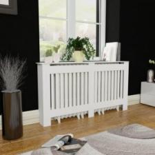 vidaXL MDF radiátorburkolat 152 cm fehér fűtőtest, radiátor