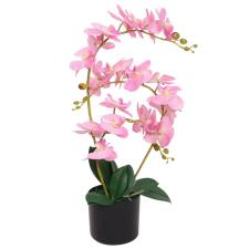 vidaXL műorchidea virágcseréppel 65 cm rózsaszín dekoráció