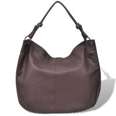 vidaXL Nagy táska sötét barna