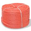vidaXL narancssárga polipropilén sodrott kötél 16 mm 250 m