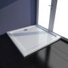 vidaXL Négyszögletes fehér ABS zuhanytálca 80 x cm