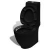 vidaXL Négyzet alakú WC Kerámia Fekete