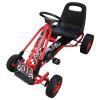 vidaXL Pedálos gokart állítható üléssel piros