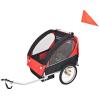 vidaXL piros és fekete gyerek kerékpár utánfutó 30 kg