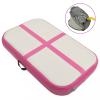 vidaXL Rózsaszín pvc felfújható tornamatrac pumpával 60 x 100 x 20 cm