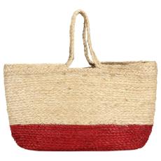vidaXL rozsdavörös-természetes színű juta bevásárlótáska