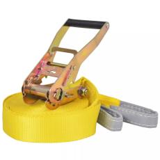 vidaXL sárga, 150 kg teherbírású heveder 15 m x 50 mm
