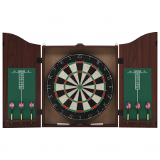 vidaXL szizálból készült profi darts tábla szekrénnyel és 6 nyíllal darts tábla