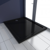 vidaXL Szögletes ABS zuhany alap tálca 80 x 100 fekete