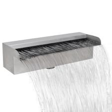 vidaXL Szögletes rozsdamentes acél vízesés medence szökőkút 30 cm kerti szerszám