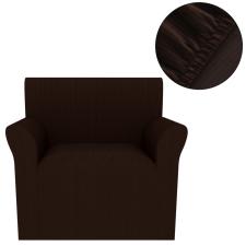 vidaXL Sztreccs karosszék védőhuzat barna széles csíkozású bútor