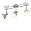 vidaXL szürke mennyezeti lámpa 3 db E14-es izzóhoz