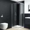 vidaXL tálcás zuhanykabin biztonsági üveggel 80x80x185 cm