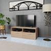 vidaXL tölgyfa színű faforgácslap TV szekrény 95 x 35 36 cm