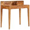 vidaXL tömör fa fiókos íróasztal 88 x 50 x 90 cm