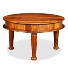 vidaXL Tömör kelet-indiai rózsafa dohányzóasztal 70 x 70 x 40 cm bútor
