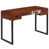 vidaXL tömör kelet-indiai rózsafa + valódi bőr íróasztal 117x50x76 cm