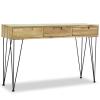 vidaXL tömör tíkfa tálalóasztal 120 x 35 76 cm