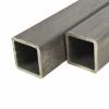 vidaXL vidaXL 2 db szerkezeti acél négyzetes zártszelvény 80x80x2mm, 2 m