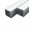 vidaXL vidaXL 2 rozsdamentes acél négyzetes zártszelvény V2A 15x15x1,5mm, 2 m