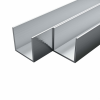 vidaXL vidaXL 4 db alumínium U-alakú csatornaprofil 10x10x2mm, 2 m