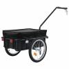 vidaXL vidaXL fekete acél kerékpár-utánfutó/kézikocsi 155 x 61 x 83 cm