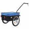 vidaXL vidaXL kék acél kerékpár-utánfutó/kézikocsi 155 x 61 x 83 cm