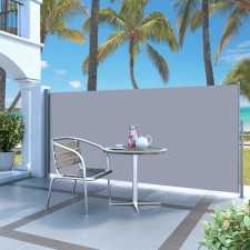 vidaXL vidaXL krémszínű behúzható oldalsó napellenző 140 x 300 cm fogó