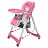 vidaXL vidaXL rózsaszín állítható magasságú deluxe baba etetőszék