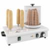 vidaXL vidaXL rozsdamentes acél hot-dog melegítő 4 rúddal 550 W