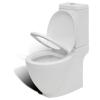 vidaXL WC Fürdőszoba Téglalap Kerámia Fehér Speciális Dizájn Toalett