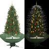 vidaXL zöld havazó karácsonyfa ernyő alakú talppal 190 cm