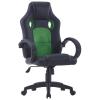 vidaXL zöld műbőr gamer-szék