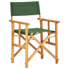 vidaXL Zöld tömör akácfa rendezői szék
