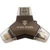 Viking USB Flash Drive 3.0 4v1 32GB fekete