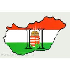 Világos H betűs Magyarország hütőmágnes 8x5 cm hűtőmágnes